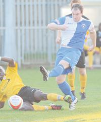 Kieran Knight couldn't find the target against Marlow.