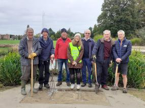 Volunteers spruce up Oaken Grove Park during 'COPtober'