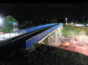 Time-lapse video shows demolition of bridge over M4