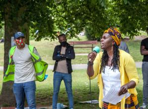 Socially distant Black Lives Matter protest held in Marlow