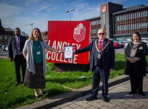 Langley College recognised for life-saving work during COVID-19 lockdown