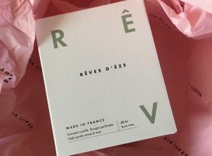 New Reves d'Eze candle from Beauty Pie