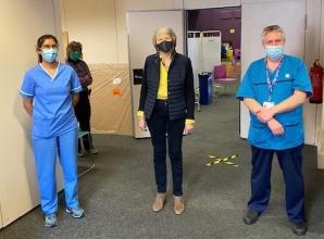 Theresa May praises Maidenhead coronavirus vaccination staff and volunteers