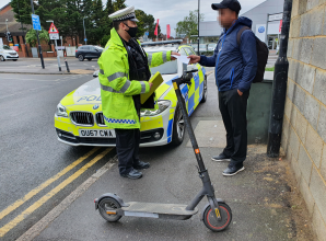 Police issue 32 warnings to e-scooter riders in Slough