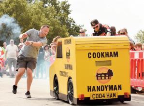 Karts hurtle through Cookham Dean for Gravity Grand Prix