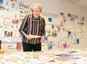 Theresa May's Christmas card competition returns