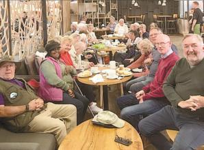 Burnham Monday Club members enjoy afternoon tea at Flowerland