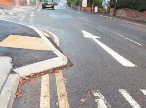 'Sharp' kerb bursts tyres in Maidenhead town centre