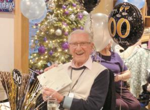 Keen Evertonian celebrates 100th birthday in Marlow