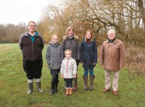 Twyford family raise money for tree planting project in Stanlake Meadow