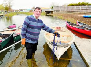 Boats on the water at Maidenhead Waterway weir launch party