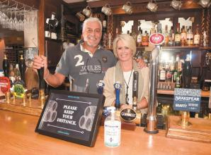 Success for pubs on their first weekend back open