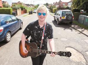 Burnham musician Dan Pryde entertains neighbours with live performances every Sunday