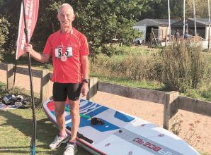 MAC's Waterman tries his hand at paddleboarding in Dinton Pastures