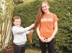 Teen's second haircut of her life to raise money for special needs charity