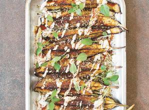 RECIPE: Rosemary and basil aubergines in za'atar recipe