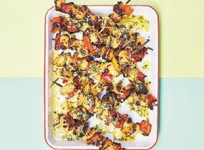 RECIPE: Crispy gnocchi with charred peppers and basil pesto recipe