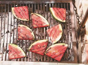 RECIPE: Grilled watermelon and prawns with feta and chilli