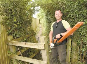 Burnham gardener praised by community for clearing overgrown area in village