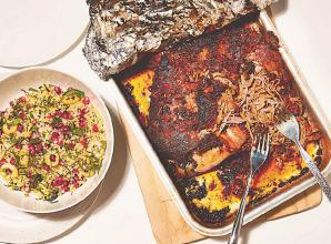 RECIPE: Poppy O'Toole's slow-roasted harissa lamb shoulder recipe.