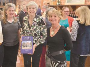 MP Theresa May enjoys book launch and opening of first official Hurst Village Archives