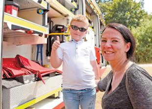 Emergency services theme for Burnham Village Fete