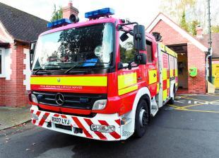 Maidenhead firefighters extinguish fire in Taplow