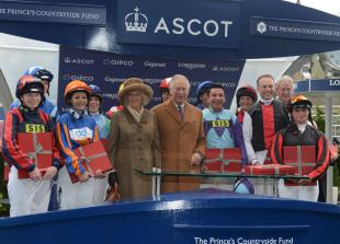 In pictures: Prince Charles unveils horse statue at Ascot Racecourse