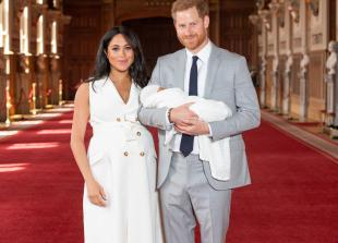 In pictures: Duke and Duchess of Sussex share glimpse of newborn son