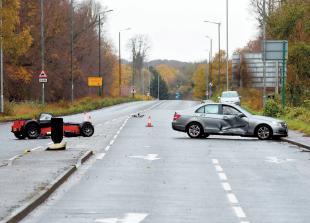 Bath Road closed following collision