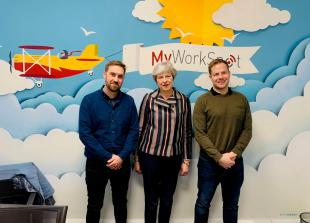 Informing Business (Mar5): MP Theresa May visits co-working start-up MyWorkSpot