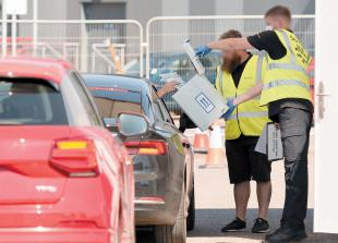 Drive-in visitors banned from mobile COVID-19 testing centre in Slough
