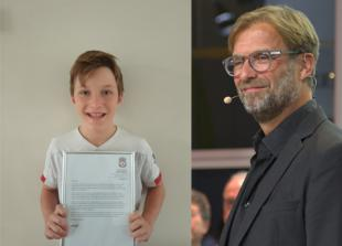 Liverpool manager Jurgen Klopp writes heartfelt letter to Maidenhead schoolboy