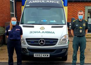 Berkshire firefighters drive ambulances to help COVID fight