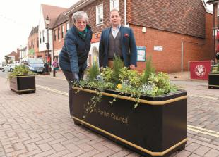 Burnham High Street planters installed to prevent pavement parking