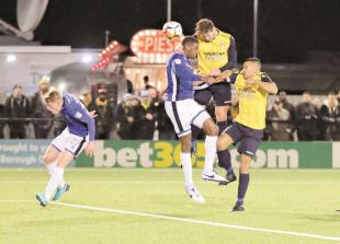 Half chances go begging on a 'nearly night' for Slough Town in FA Cup