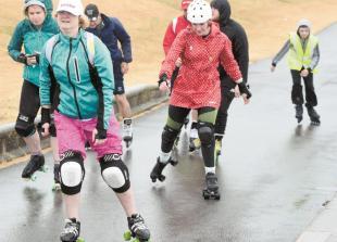 Skater marathon raises money for charity