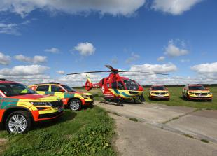 Thames Valley Air Ambulance staff aiding vaccination rollout