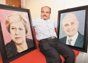 In pictures: Crystal portraits of leading figures created