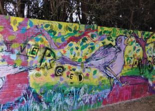 Street art mural brightens up 'anti-social' Burnham footpath