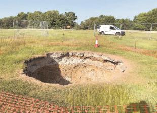Scanner reveals what lies beneath 40ft Wooburn Green sinkhole