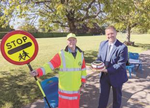 Flackwell Heath schools wave goodbye to 'beloved' crossing patroller
