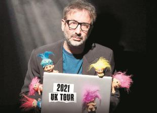 David Baddiel at the Wycombe Swan: 'Part stand-up comedy, part TED Talk'