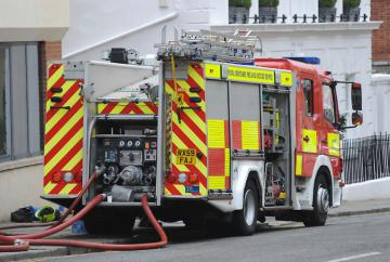 Firefighters tackle blaze at derelict house in Dorney