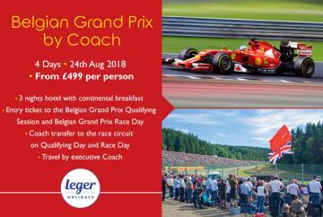 Reader offer: Belgian Grand Prix by coach