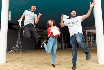 In pictures:  A-level results day 2018