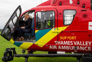 Thames Valley Air Ambulance celebrates milestone with visit from Countess of Wessex