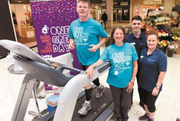 Army veteran completes eight-hour treadmill challenge for children's causes
