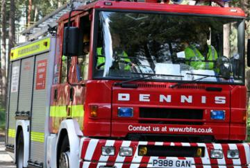 Firefighters called after car tips on side swerving to avoid deer