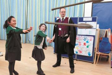 Vikings invade Dorney School for special history lesson